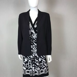 Size 10 jacket black with a little white dots